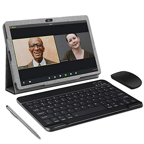 Tablet 10 Zoll Android 10 Tablet Mit Tastatur, 3 GB RAM + 32 GB ROM, Quad-Core, GMS-Zertifizierung, 4G LTE SIM Google Tablet, HD IPS-Display, 8MP & 5MP Kamera, 8000 mAh, OTG, WiFi, Bluetooth, GPS