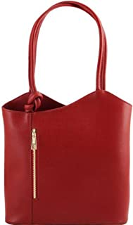 Patty - Saffiano leather convertible bag - TL141455 (Red)