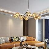 ChangHua1 Marrón Nordic Living Room Chandelier Personalidad Creativo Dormitorio...