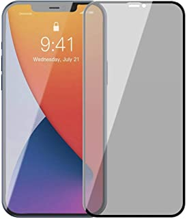 Baseus 0.23mm curved-screen tempered glass screenprotector with crack-resistant edges and anti-spy function For iP 12/12 P...