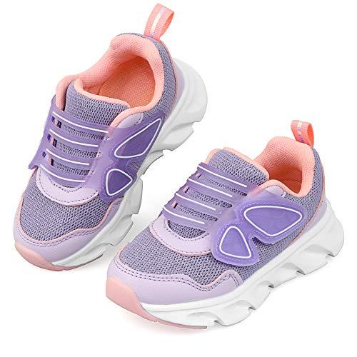 Zapatillas de Deporte Niñas Zapatillas Casual Zapatos de Moda Ligeras Antideslizante Transpirable Lindo Morado Tamaño 38