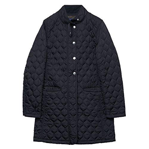 GANT Damen Classic Quilted Coat Mantel, Schwarz (Black 5), 34 (Herstellergröße: XS)