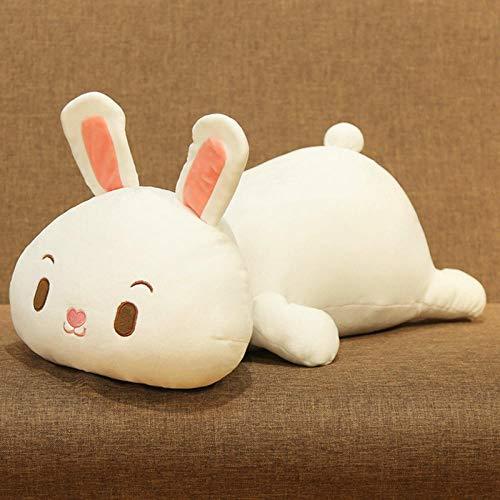 Muñeco Suave Conejo de Peluche de Juguete Almohada para Dormir Lindo Paño de Cama súper Suave Doll-White Rabbit_50 Cm 0.59Kg