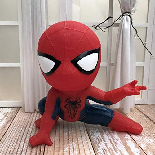 HIL Kreativität Schön Spider Man Sparschwein Karikatur Münzbank Vinyl Anti-Fall Sparbüchse Kind Geburtstagsgeschenk Geschenke Zum Kindertag,A