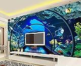 MUNXIN Wallpaper Papel Pintado 3D Acuario Del Mundo Submarino Papel Pintado Pared Moderno Dormitorio Fotomurales Decorativos Pared