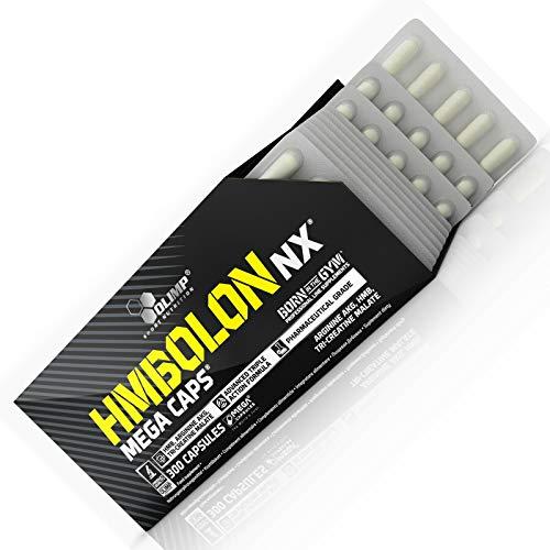HMBOLON | HMB + L-Arginine + Tri-Creatine Malate | Anabolic + Anticatabolic Pills | Fat Burner and Muscle Mass Builder | No Box (180 Capsules)