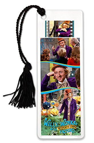 Willy Wonka and The Chocolate Factory FilmCells Bookmark with Tassel and 35mm Movie Film Cell