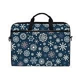 Buyxbn Snowflake - Bolsa para ordenador portátil, diseño de copo de nieve, color azul