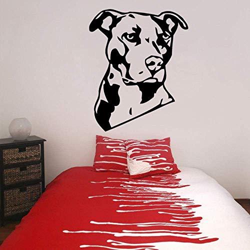 Decoraciones Girlsaa 57.4Cm * 70Cm Personalizado Animal American Pitbull Terrier Perro Pvc Adhesivos De Pared Calcomanía