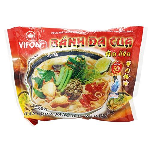 10er Pack (10x60g) Vifon Instant Reisnudeln mit Krabbengeschmack Banh Da Cua (Papa Vo ®)