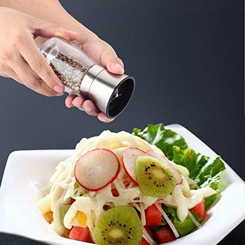 ミル ペッパー 2個セット胡椒挽き 岩塩 粗さ調整 改良品 日本食品認証済