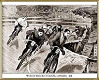 ポスター アーティスト不明 Women Track Cyclists 1898 額装品 アルミ製ハイグレードフレーム(ゴールド)