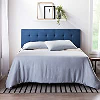 Lucid Square Tufted Mid Rise Adjustable Height Headboard (Twin/Twin XL)