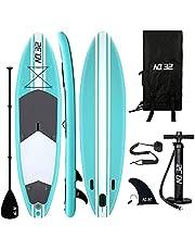 10ft / 3m Opblaasbare Stand Up Paddle Board   Opblaasbaar SUP Board Surfboard Kit voor beginners met verstelbare peddel   Luchtpomp met manometer   Reparatieset   Premium lijn   Kayak Seat & Carry Backpack
