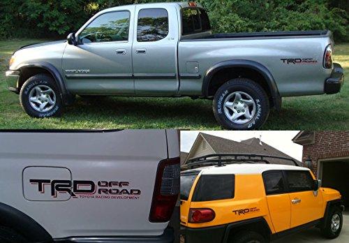 Matte Black Demupai TRD Off Road Mountain Decal Vinyl Car Stickers for Toyota Land Cruiser//Tundra//Prado//Hilus