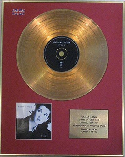 CELINE DION - édition limitée CD 24 carats or disque - d'EUX