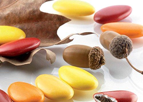 Confetti Buratti al Cioccolato Sfumati 1 kg (Rosso/Giallo - Autunno)
