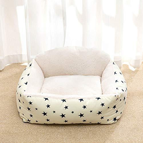 ZISTA Hondenslaapmat Huispad Warme winter-huisdier-nest hondenstreep bed met kenel voor kleine medium grote honden pluche Cozy, B, S