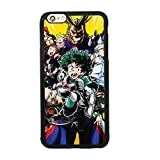 Anime My Hero Academia Theme Case for iPhone 6 Plus/6S Plus (5.5 Inch) TPU Silicone Gel Edge + PC Bumper Case Skin Protective Printed Phone Full Protection Cover