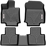 YITAMOTOR Floor Mats Compatible with 2019-2021 Toyota RAV4, Custom Fit Black TPE Floor Liners, 1st & 2nd Row All-Weather Protection