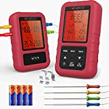 ENZOO Wireless Meat Thermometer, 4 Probes Wireless Digital Grilling Thermometer for Cooking,...