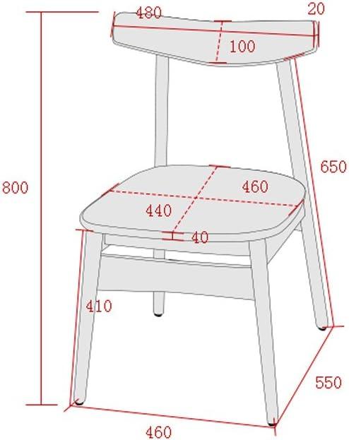 Chaise à manger simple chaise longue dossier chaise d'ordinateur (Couleur : C) A