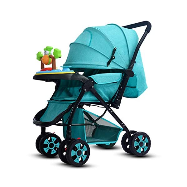 RAPLANC High View And Stylish Stroller, Baby Stroller for 2020, Four-Wheel Shock Absorption, 360-Degree Rotation Function, for Travel, Girly Heartpink,Blue RAPLANC ★ Fit kids 3-years up to 25kgs.Carbon steel material design to protect the safety of the baby.Can be fold into a very small size. Easy for traveling and car trips. Convenient one-hand and self-standing fold are smooth when use for pack up and go. ★ Large extended foldable canopy for maximum sun shade. A week-a-boo window, you can easily keep a watchful eye on your baby. Stay connected with your baby and no more worry while ensuring ventilation. Enlarge and easy to access storage basket holds all baby's necessities. Detachable cloth covers for easy cleaning. ★ Powder coating crafts. High quality material without pollutant. Small, light and practical. Armrest can be opened quickly in the middle. Detachable armrest offers safety guard and also allows baby easily in and out. 1