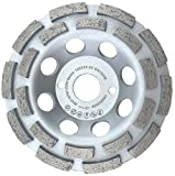 "PRODIAMANT Premium Diamond Grinding Cup Wheel Concrete/Universal 125 mm 5"" x 22.2 mm Double Row Silver Diamond Grinding Head PDX829.025 125mm"