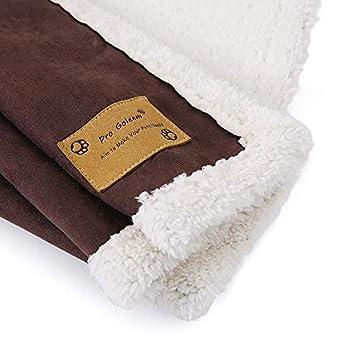 Couverture Pro Goleem douce et chaude pour chien, idéale pour paniers, canapé, voiture (L, 120x100cm)