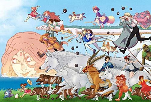 MIMORE Rompecabezas de madera rompecabezas 1000 piezas de dibujos animados anime adultos descompresión niños juguetes educativos - 300 piezas colección 002