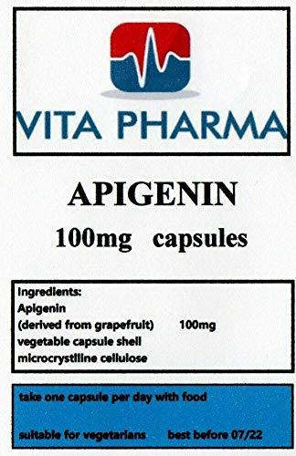APIGENIN high Strength 100mg, 60 Capsules, 2 Months Supply, TAKE ONE A Day, vita pharma, Prostate, Produced in The UK, Quality Product