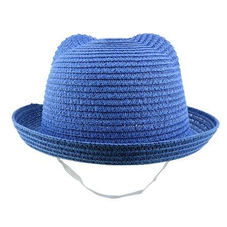 Mdsfe Vizierhoed zomerhoed kind strohoed babyhoed jongen en meisjes zomerhoed feestje strand strohoed ouderkind k3792 blauw-A3792