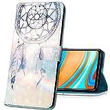 MRSTER Funda para Samsung Galaxy J7 Duo 2018, 3D Moda Carcasa Libro Flip Case Antigolpes Cartera PU Cuero Funda con Función de Soporte para Samsung Galaxy J7 Duo 2018. YB Blue Dreamcatcher