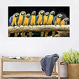 Wand Dekorative Malerei Rote Papageien Vögel Bild