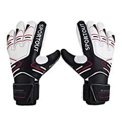 FOR THE TOUGHEST SAVES:- These goalkeeper gloves have the wear-resistant latex palms which can give you the extremely strong control and grip when handling the ball. Meanwhile, the unique positive cut design gives you the best ball-contact for the to...