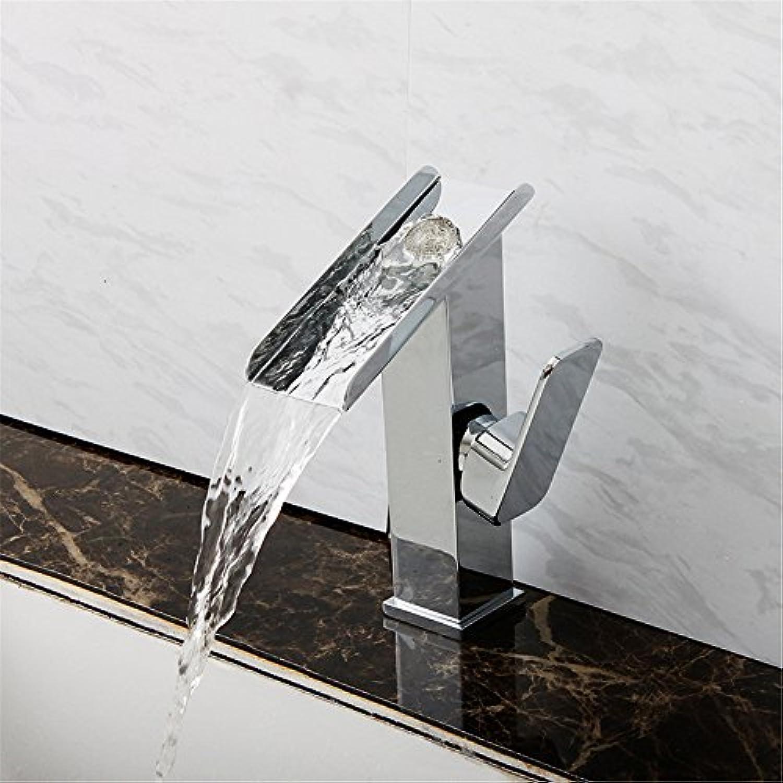 Bijjaladeva Wasserhahn Bad Wasserfall Mischbatterie WaschbeckenWaschbecken Warmes und Kaltes Volle Kupferoberflche Waschtisch Armatur Wasserfall Wasserhahn Single-Wasseranschlu