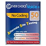 Clever Choice Auto- Voice Blood Glucose Test Strips Color - Blue