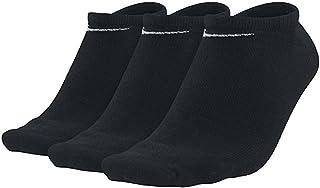 Nike Unisex Cushioned Lightweight 3 Pair Socks, Black (Black/White), Medium