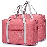 SPAHER 2 Paquetes Ligera Bolsas de Viaje Mujer Hombre Fin de Semana Plegable Ultraligera Equipaje de Mano Bolsa Maternidad Bolsa Hospital Duffle Bag 30L