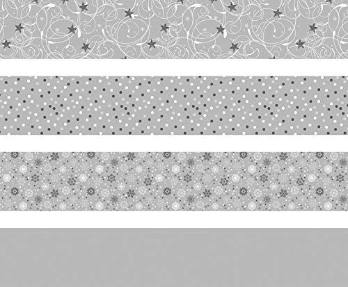 Heyda 204875536 Faltstreifen-Set für Fröbelsterne 1 x 30 cm & 1, 5 x 45 cm, 4 Motive Sortiert in zwei verschiedenen Größen