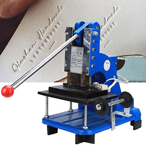 Qinlorgo LZ-160 Professional Stamping Machine, Hot Foil Stamping Machine Manual Adjustable Bronzing Machine Heat Press Stamper 220V(Prise UE)
