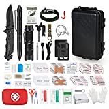Emergency Survival Kit, 175 Pcs First Aid Kit and 12 Pcs Survival Tools for Home, Office, Car, Outdoor Adventure, Camping, Hiking, Hunting and Natural Disasters