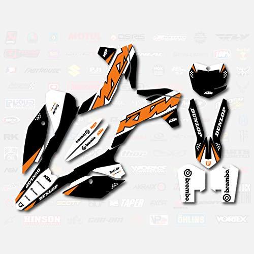 Black Orange Shift Graphics Kit fits KTM 13-15 SX SXF XC XCF 125 250 300 450