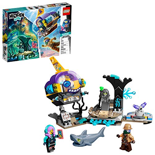 LEGO Hidden Side J.B.'s Submarine 70433, Augmented Reality (AR) Ghost Toy, Featuring a Submarine, App-Driven Ghost-Hunting Kit, Includes 3 Minifigures and a Shark Figure, New 2020 (224 Pieces)