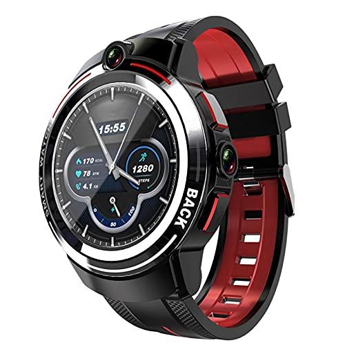 ZYY Android Smart Watch para Mujeres Y Hombres, 1,39 Pulgadas De Pantalla LED Redonda WiFi 4G Llamada De Cámara Dual Desmontable con Monitoreo De Movimiento De Caminata,B