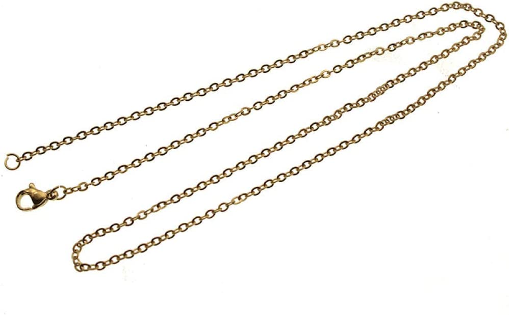 ZFCMIAO 5pcs Elegant Batch Chain Necklace Golden Cheap super special price Lin Steel 2mm Stainless