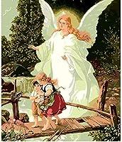 デジタル油絵女神天使の絵寝室オフィス絵画油絵デジタル番号デジタルDIYカラー40x50cmフレームレス