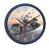PondTech Motorcycle Wall Clock with Engine Sound and Light. Decorate Your Bedroom, Kitchen or Office with Stylish Wall Clock