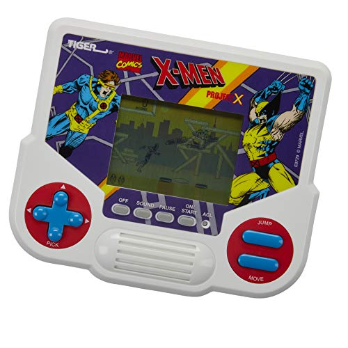 Tiger Electronics Marvel X-Men Project X Electronic LCD Video Game, Retro-Inspired 1-Player Handheld Game, Ages 8 and Up (Toy)