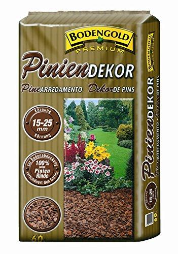Pinienrinde Bodengold 15-25mm 60 L Bodengrund Dekomulch Rindenmulch Terrarienerde